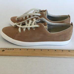 Sperry Tan Top Sider Memory Foam Sneakers Size 10